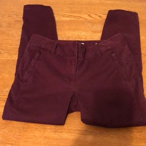 LOFT Maroon denim ankle pants
